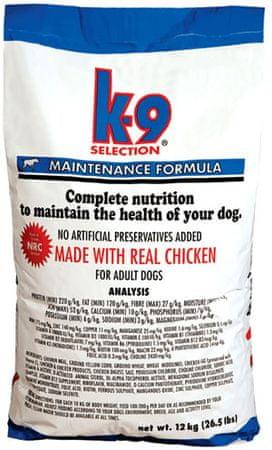 K-9 hrana za pse Maintenance, 20 kg