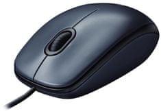Logitech optična miška M100, črna