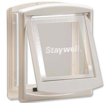Staywell Drzwiczki z przezroczystą klapą, Małe, biały
