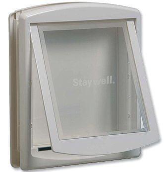 Staywell dvířka s transparentním flapem velká bílá