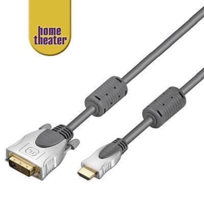Home Theater HQ kabel HDMI - DVI, M/M, 3m