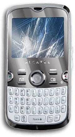 Alcatel OT 800 Chrome White