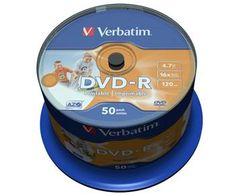 Verbatim DVD-R medij 4.7GB 16x Printable (43533), 50 kom