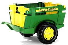 """Rolly Toys Vlečka za traktor 1osá """"Farm Trailer JD"""" - zelená"""