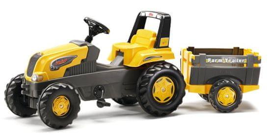 Rolly Toys Šliapací traktor Rolly Junior s Farm vlečkou - žltý