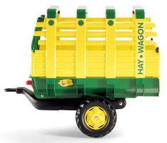 """Rolly Toys Vlečka na seno za traktor 1osá """"Hay Wagon"""" - žltá"""