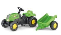 Rolly Toys Šlapací traktor Rolly Kid s vlečkou - zelený II.