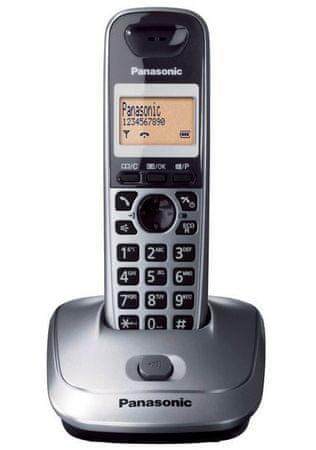 Panasonic Brezvrvični telefon KX-TG2511, siv
