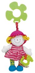 K´s Kids Veselá panenka s úchytem na kočárek - JULIA