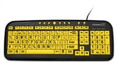 Connect IT CI-44 kontrastní klávesnice pro seniory/děti, USB