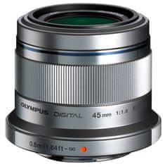 Olympus objektiv 45 mm M.ZUIKO DIGITAL f/1.8, siv