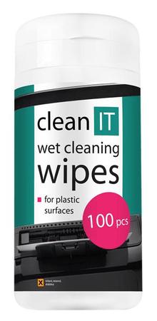 CLEAN IT Nedves törlőkendő, 100 db