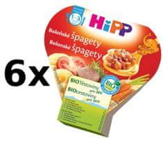 HiPP BIO Bolonské špagety - 6x250g