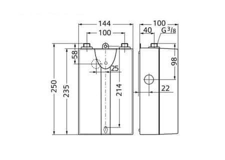 podpultni pretočni grelnik vode Siemens pretočni podpultni grelnik vode (DH04101) - Odprta embalaža - Več o  artiklu   mimovrste=)