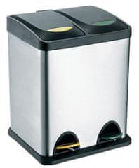 Toro  Nerezový koš s plastovým víkem na tříděný odpad 2x