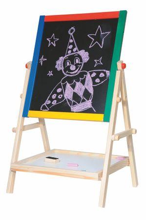 Woody risalna dvostranska tabla s poličko Natur, 65 cm