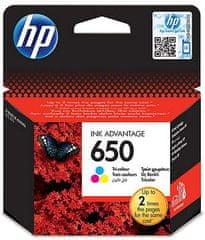 HP tinta 650, tri boje