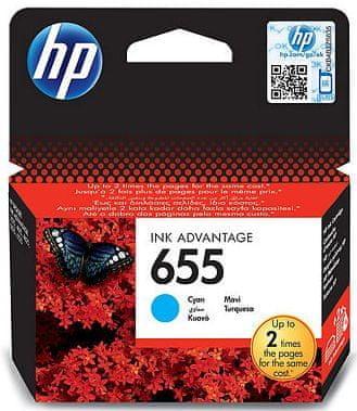 HP tinta 655, plava
