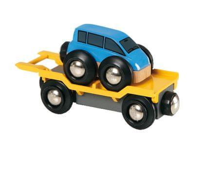 Brio avtomobilska prikolica z avtomobilom