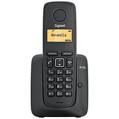 Gigaset bezprzewodowy telefon A120, czarny
