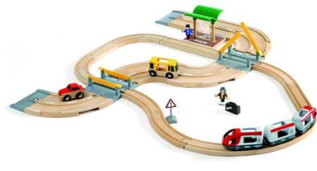 Brio železniški + cestni komplet