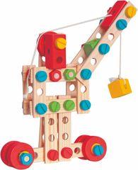 """Woody Montážna stavebnica vo vedierku """"Constructor"""", 130 dielov"""