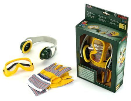 Klein Zestaw rękawice +słuchawki i gogle