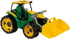 LENA Óriás traktor kotróval, Zöld/Sárga
