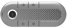 SuperTooth CRYSTAL Bluetooth HF na stínítko, stříbrné  - rozbaleno