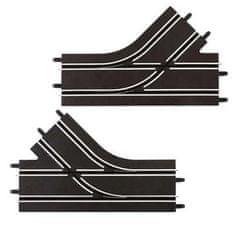 CARRERA 61618 GO/D143 Mechanická výhybka ľavá + pravá