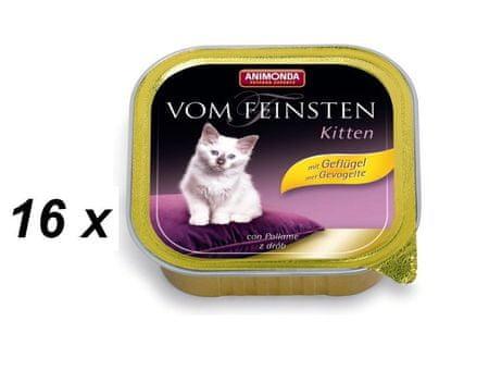Animonda mokra karma dla kociąt Vom Feinstein Cat Junior - drób - 16 x 100g