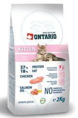 Ontario hrana za mlade mačke, 2 kg