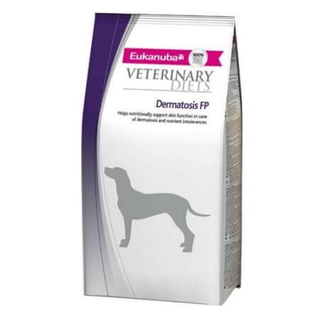 Eukanuba veterinarska dieta za pse z občutljivo kožo Dermatosis - 12kg - Poškodovana embalaža