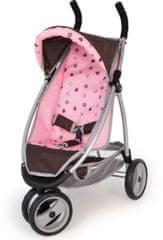 Bayer Design voziček za punčke Jogger, roza/rjav