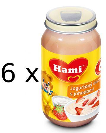 Hami Jogurtový dezert s jahodami - 6 x 190g