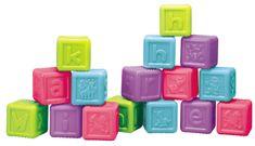 Teddies BABY Kolorowe klocki z literkami, 16 szt