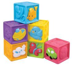 Teddies BABY Kolorowe klocki z rysunkami, 6 szt