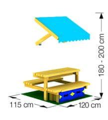 Jungle Gym Mini Picnic Module 120cm - lavica so stolíkom
