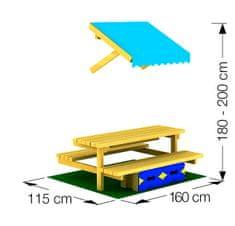Jungle Gym leseni igralni mini piknik Jungle Mini Picnic Modul, 160 cm