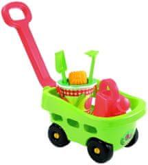 ECOIFFIER Záhradný vozík s vedierkom a príslušenstvom