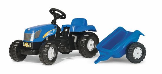 Rolly Toys Šliapací traktor New Holland TVT190 s vlečkou