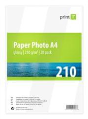 Print IT Fényes fotópapír, A4, 210 g/m2, 20db