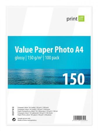 Print IT Fényes fotópapír, A4