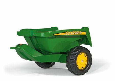 Rolly Toys John Deere kis utánfutó traktorra, zöld