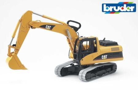 BRUDER Építőipari járművek - CAT Lánctalpas kotrógép