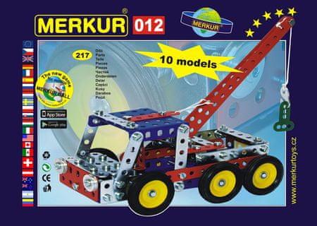 Merkur M 012 Vontató építőkészlet, Fém, 217 darabos
