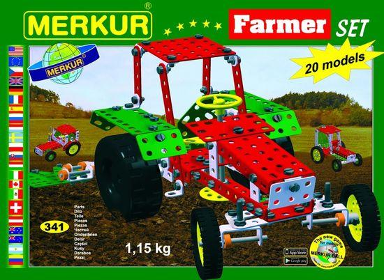 Merkur Stavebnice Farmer Set 20 modelů 341ks
