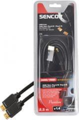SENCOR SAV 166-025 (HDMI kabel 1.4), 2,5 m
