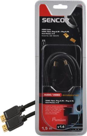 Sencor SAV 166-015 (HDMI kabel 1.4), 1,5 m