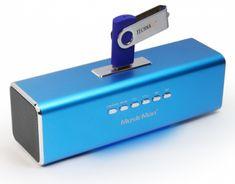 Technaxx MusicMan prenosný stereo reproduktor, modrý